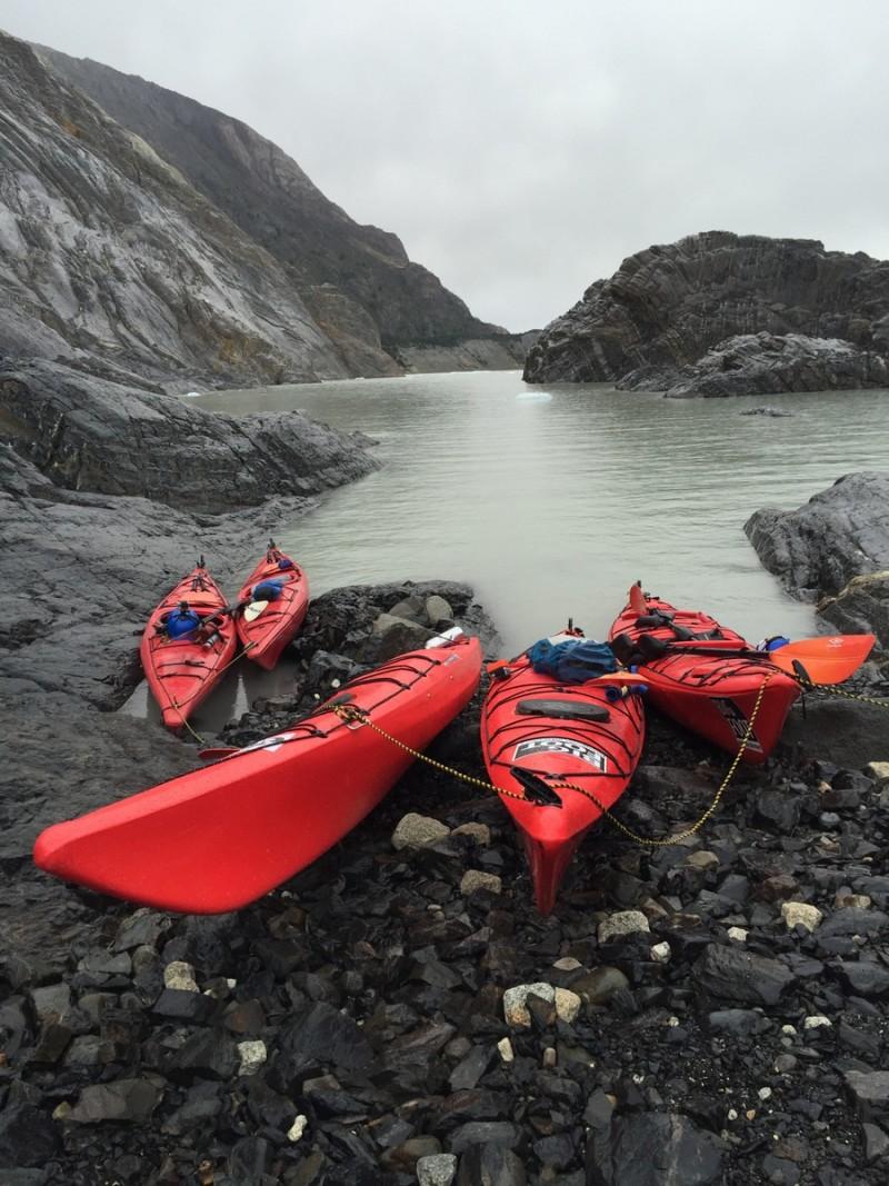 Kajaken Torres del Paine Glacier Grey