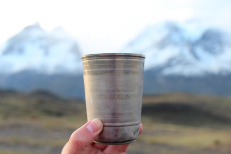 Pisco Sour Gletschereis Chile Patagonien