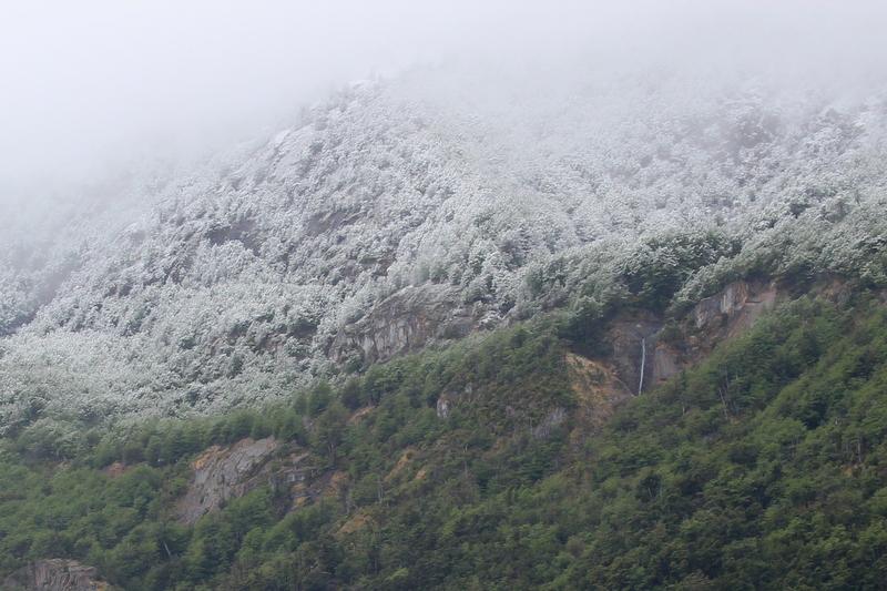 Schnee Patagonien Frühling