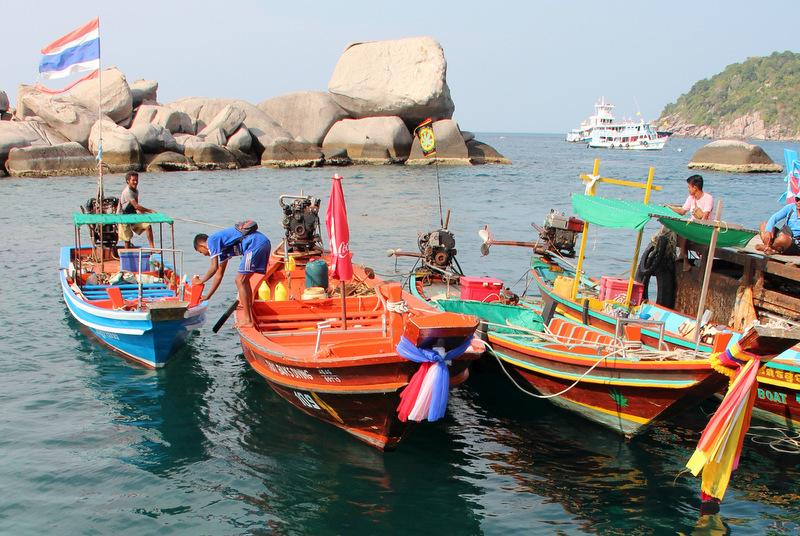 Schnorcheln Koh Tao Thailand Boote