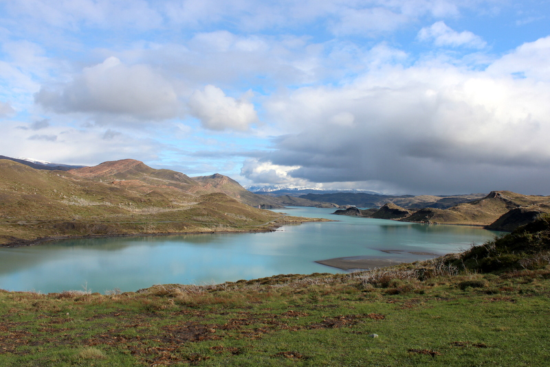 Steppe See Patagonien Landschaft