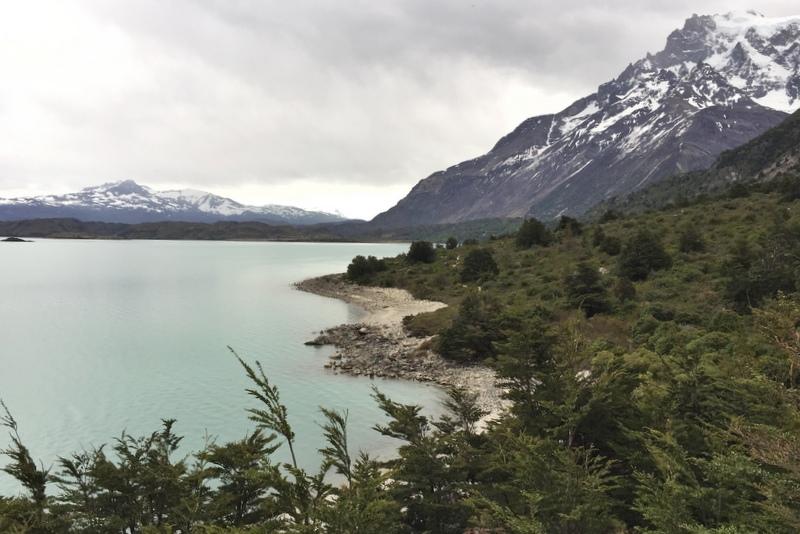 W Cicuit Trekking Torres del paine Patagonien See