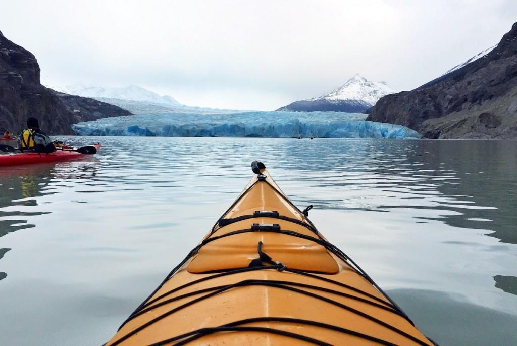 Gletscher Kajaktour Patagonien Chile Glacier Grey Torres del Paine