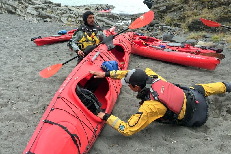Kajaktour Patagonien Big Foot Glacier Grey Einweisung