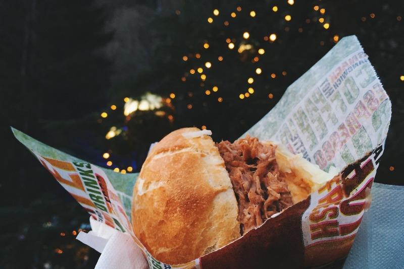 Pulled Pork Essen Weihnachtsmarkt