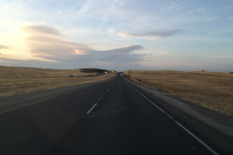 Sonnenuntergang Roadtrip Kalifornien Wohnmobil