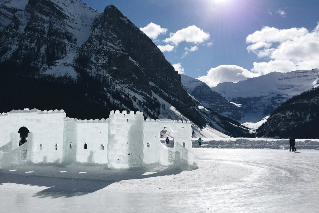 Eis Schloss Lake Louise Kanada