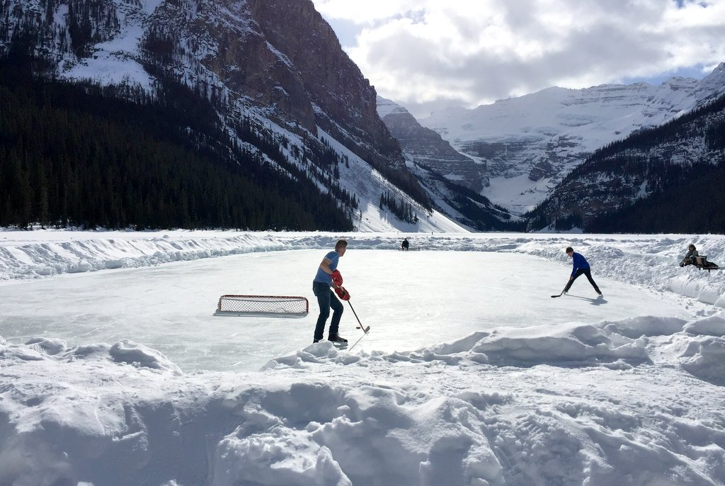 Eishockey Lake Louise Kanada