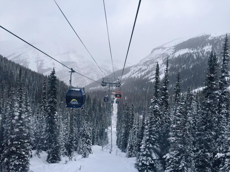 Gondel Sunshine Village Banff Skifahren Skigebiet