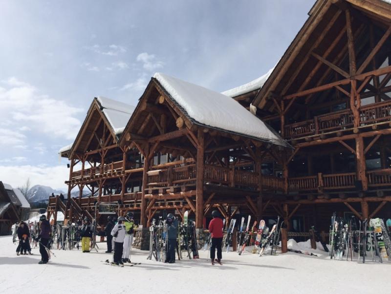 Lodge Hütte Lake Louise Skigebiet Restaurant