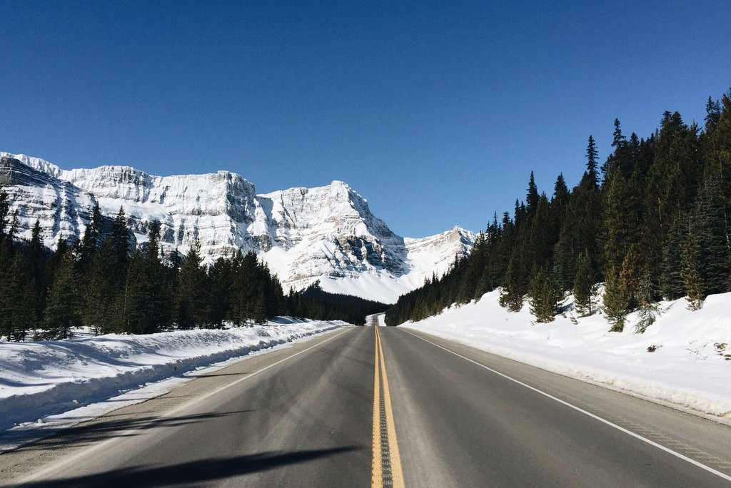 Icefields Parkway Alberta Kanada Winter Roadtrip