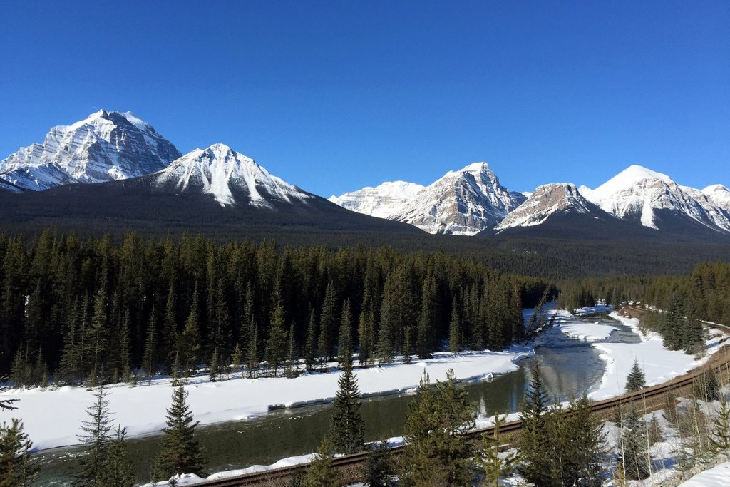 Kanadische Rockies Winter Banff Bow Valley