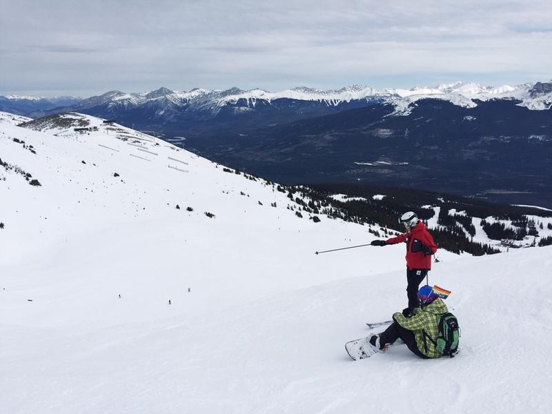 Skifahren Snowboarden Marmot Basin Kanada Jasper