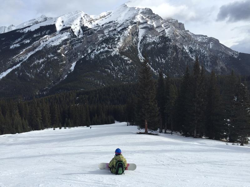 Skifahren Snowboarden Mount Norquay Banff