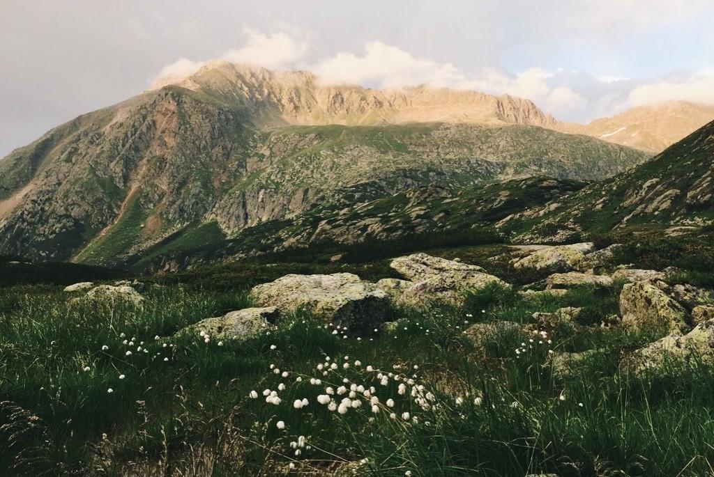 Abendstimmung in den Bergen Stubai Tirol