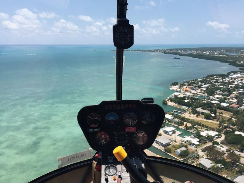 Helikopterflug über die Florida Keys