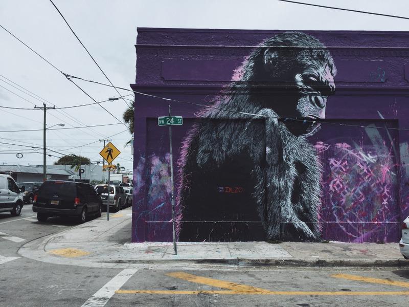 Wynwood Mural Affe Streetart Miami Stadttour Kunst und kulinarisch