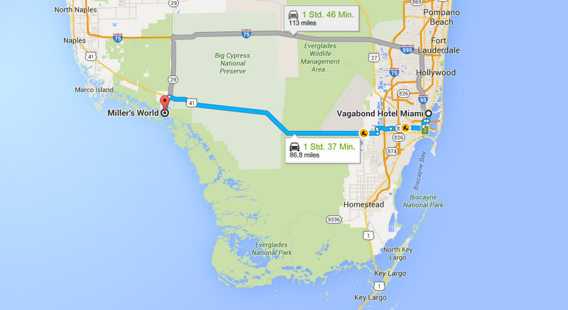 Screenshot Google Maps Miami Everglades City