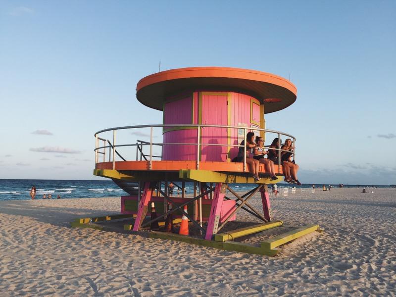 Rettungsschwimmer Huette Miami Beach Strand
