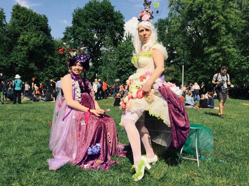 Besucher WGT Leipzig Viktorianisches Picknick bunt