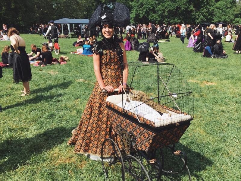 Besucher WGT Leipzig Viktorianisches Picknick