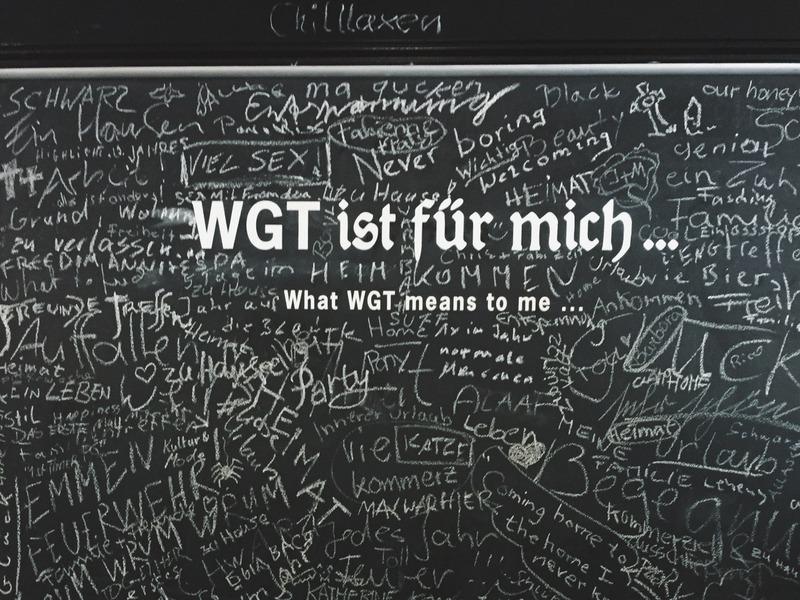 WGT ist fuer mich Leipzig in schwarz Ausstellung
