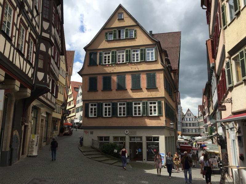 Tuebingen Altstadt Gassen Fachwerk