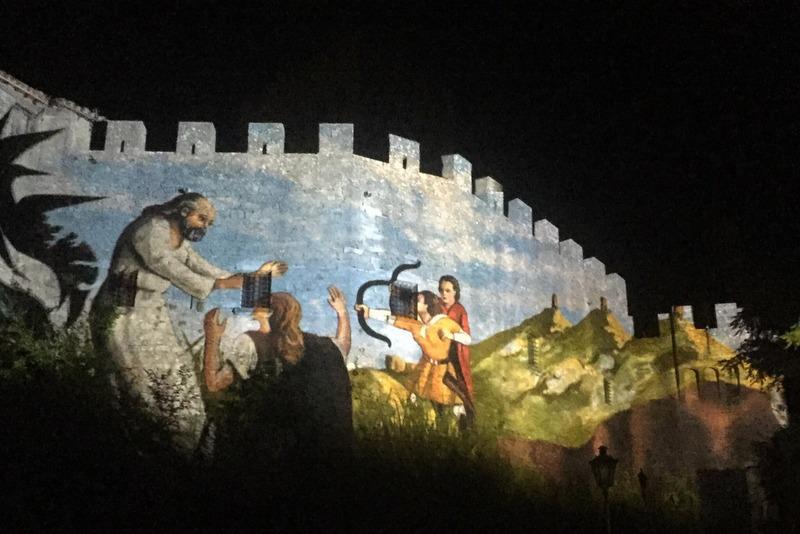 Projektion San Marino Geschichte Mittelalterfest