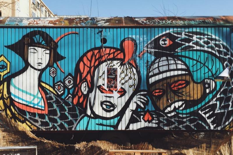 Streetart Yaam Strandbar BerlinStreetart Yaam Strandbar Berlin