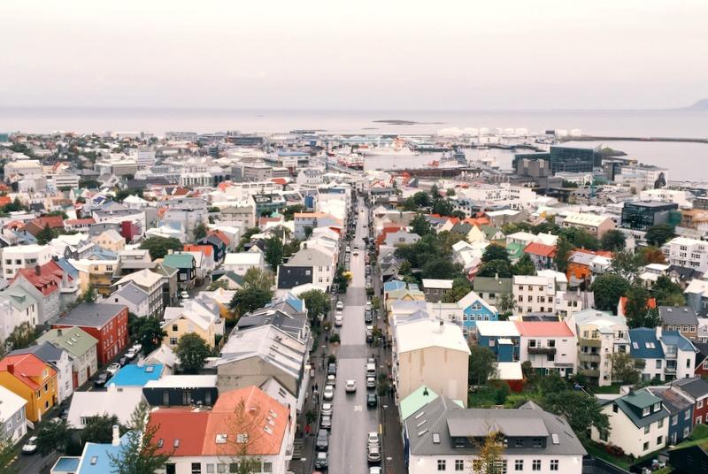 Bester Blick über Reykjavik Hallgrimskirkja