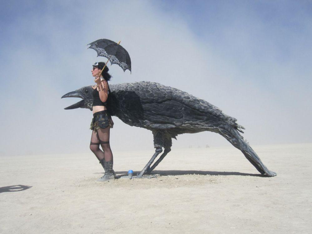 Burning Man 2016 Kraehe
