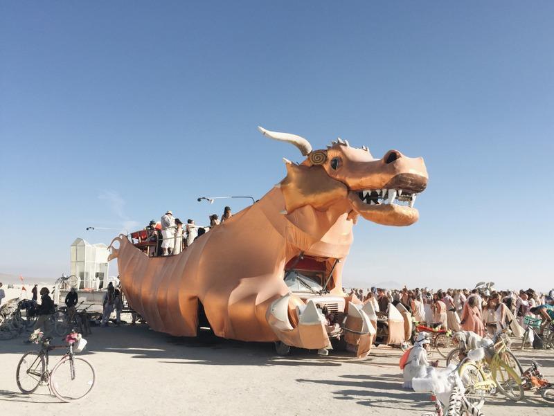 Dragon Art Car Burning Man 2016