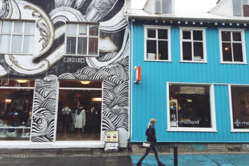 Laugavegur Hauptstrasse Reykjavik