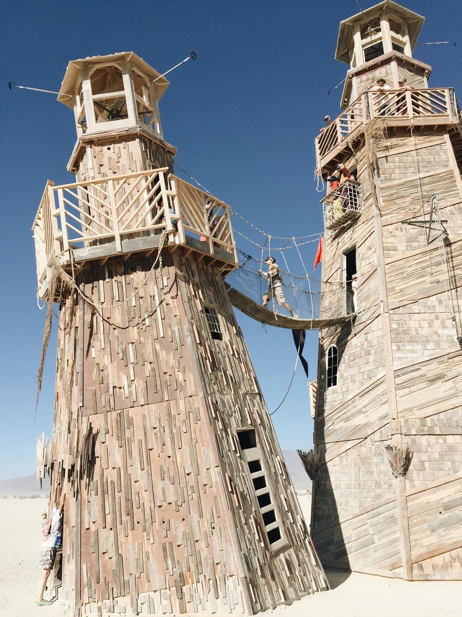 Lighthouse Burning Man