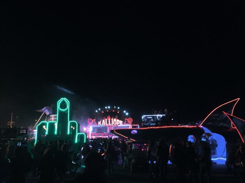 Playa bei Nacht Burning Man
