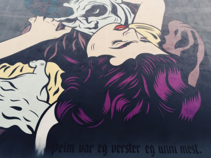 Streetart Mural Reykjavik island