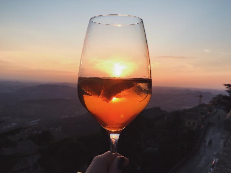 Aperitivo San Marino Sonnenuntergang