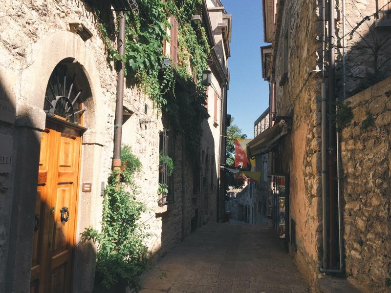 Gassen Altstadt San Marino