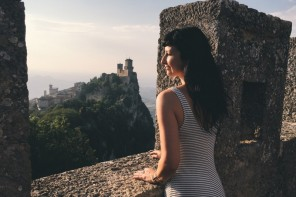 San Marino Ausblick Tuerme Altstadt
