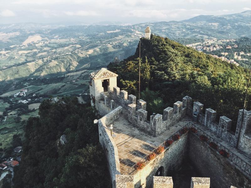 San Marino Blick Monte Titano Türme