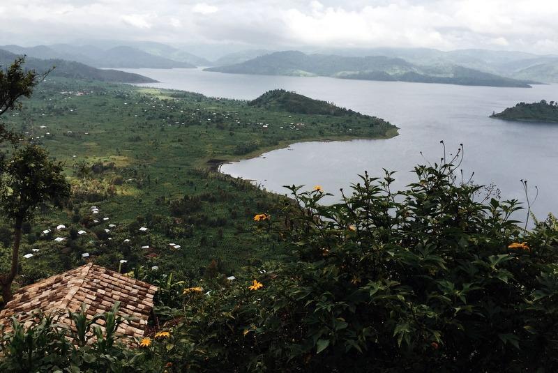 Vulkane Seen Norden Ruanda Landschaft