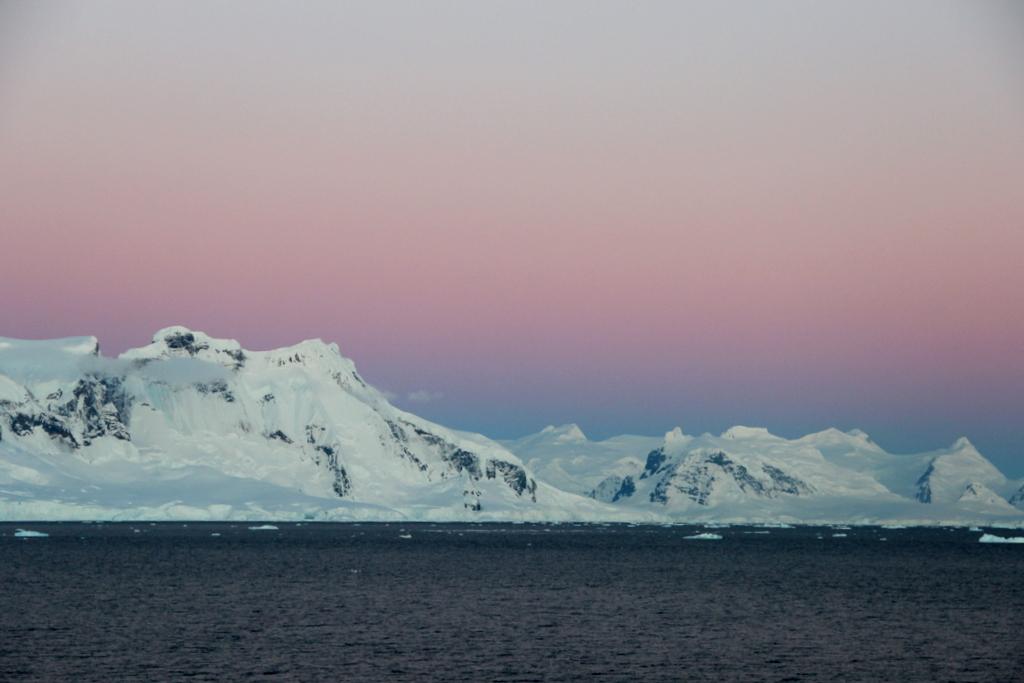 Abendlicht Antarktis Mitternachtssonne