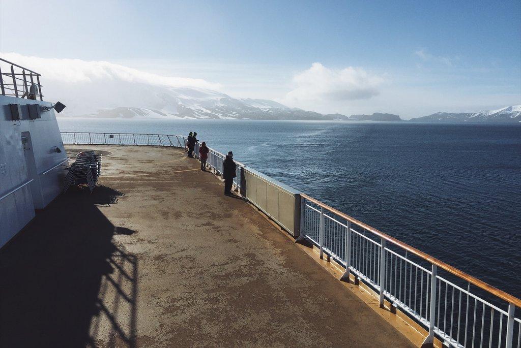 Antarktis Kreuzfahrt Oberdeck Blick