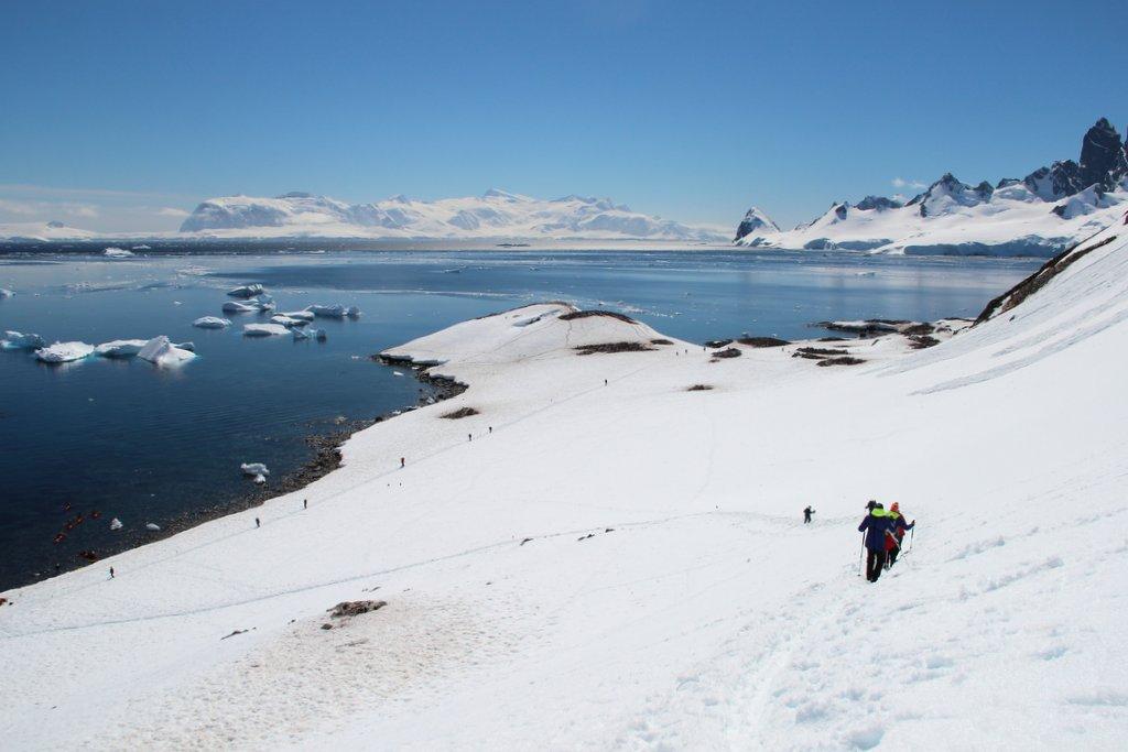 Cuverville Island Antarktis Wanderung Landschaft