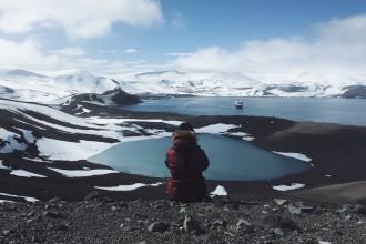 Deception Island Vulkan Wanderung Antarktis