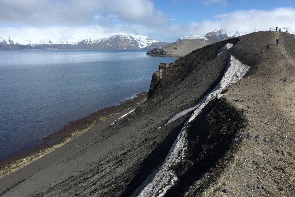 Deception island Antarktis Wanderung Vulkan
