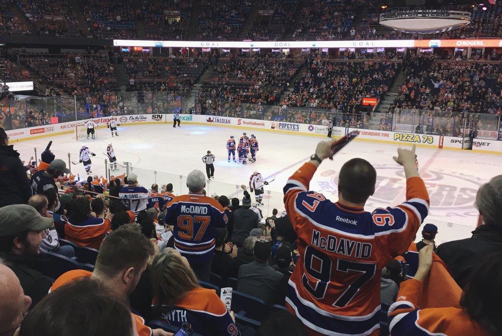 Edmonton Oilers NHL Icehockey Match