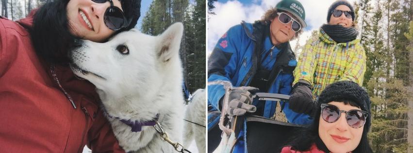 Hundeschlittenfahren Kanada Rocky Mountains