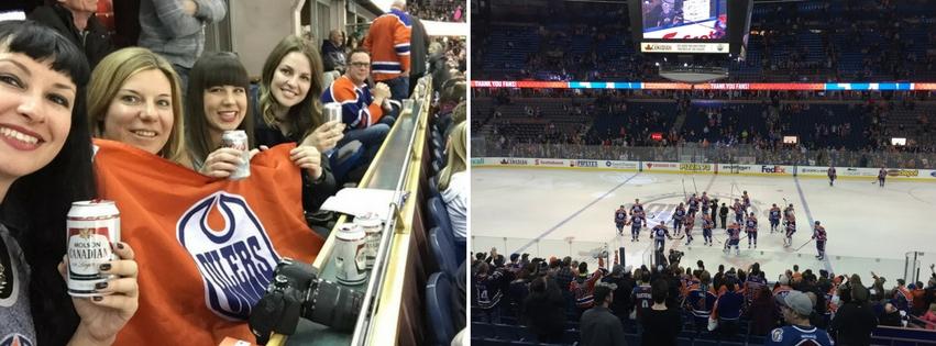 NHL Eishockey Spiel Edmonton Kanada