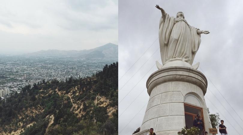 Santiago de Chile Cerro San Cristobal Aussicht